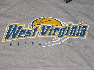 Wvu West Virginia Mountaineers Basketball T Shirt New Sz     Large