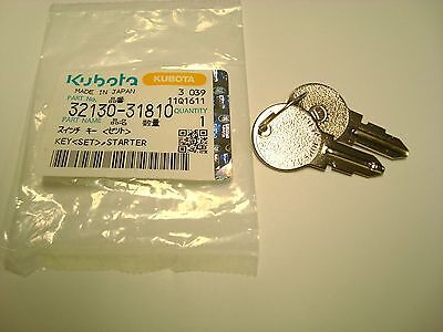 Kubota Tractor Starter Switch Key Pt 32130-31810 Oem - New Qty. 2
