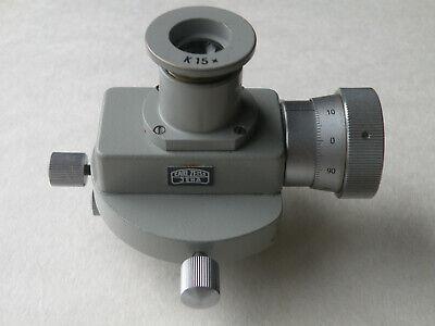 Carl Zeiss Jena Microscope Filar Micrometer Eyepiece K 15x