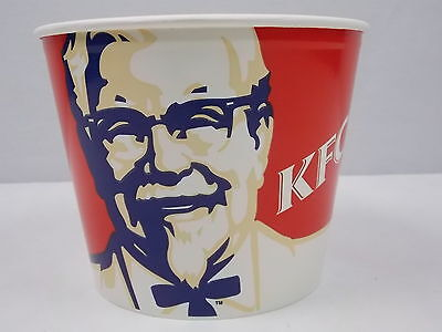 Vintage KFC Bucket wth Lid Kentucky Fried Chicken Colonel Sanders 1997 New Clean