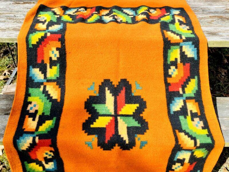 Vintage Woven Wool Native American Navajo Style Rug Tapestry Saddle Blanket