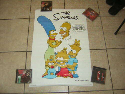 THE SIMPSONS POSTER  FAMILY VINTAGE 1989 VINTAGE MATTHEW GROENING #133