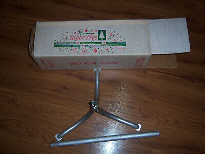 """HTF NICE 18"""" WOOD TREE POLE & STAND FOR VTG Aluminum XMAS TREES """"PARTS ONLY"""""""