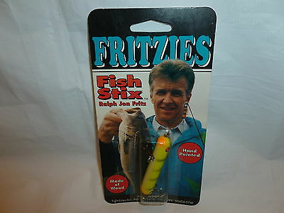 Fritzies Packaged Hand Painted Wooden Fish Stix Fishing Lure  Lot 3-116 ()