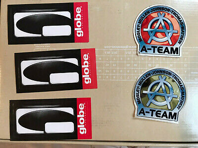 2 A-Team and 3 Globe Shoes Skateboard Stickers