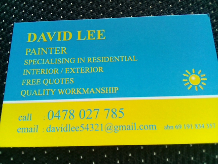 PAINTER..friendly, free quote