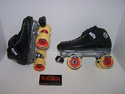 NEW VANILLA RENEGADE CUSTOM LEATHER ROLLER SKATES MENS SIZE 6 (LADIES 7)