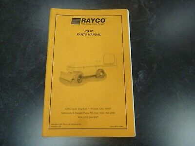 Rayco Rg 85 Stump Grinder Cutter Parts Catalog Manual Book