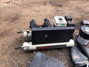 Wheelbarrow portable air compressor