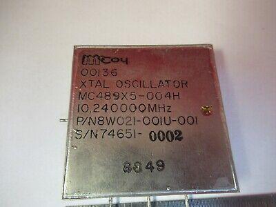 Quartz Oscillator Mccoy Frequency 10.24 Mhz Flight Unit Gps As Pic 9-a-27