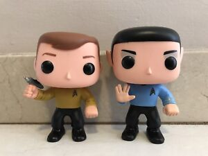 STAR TREK CAPTAIN KIRK & SPOCK FUNKO POP VINYL FIGURES