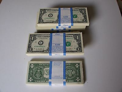 2013 Collectible Dallas  Tx Pack Of 100 One Dollar Bills Mint Ogp Sealed