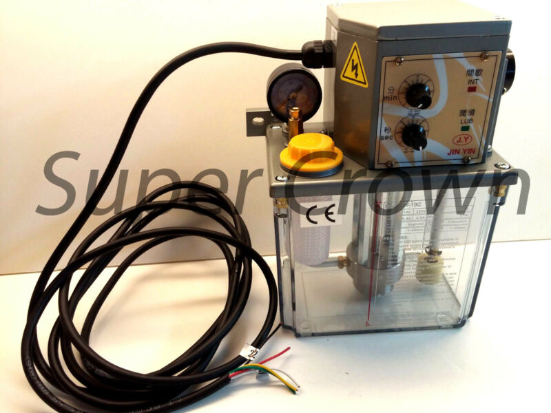 Industrial Electric Lubrication Pump, 110V 2L 180cc/min, Jin-Yin, JY 19C CNC CE