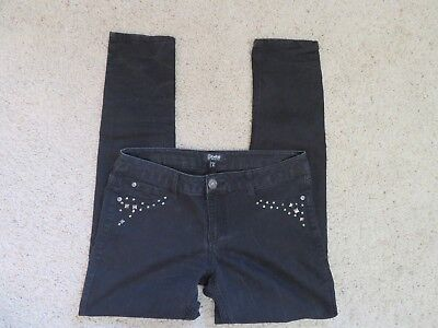 (Rewash Size 11 Black Jean legging Pants, Studded Front and Back Pockets)