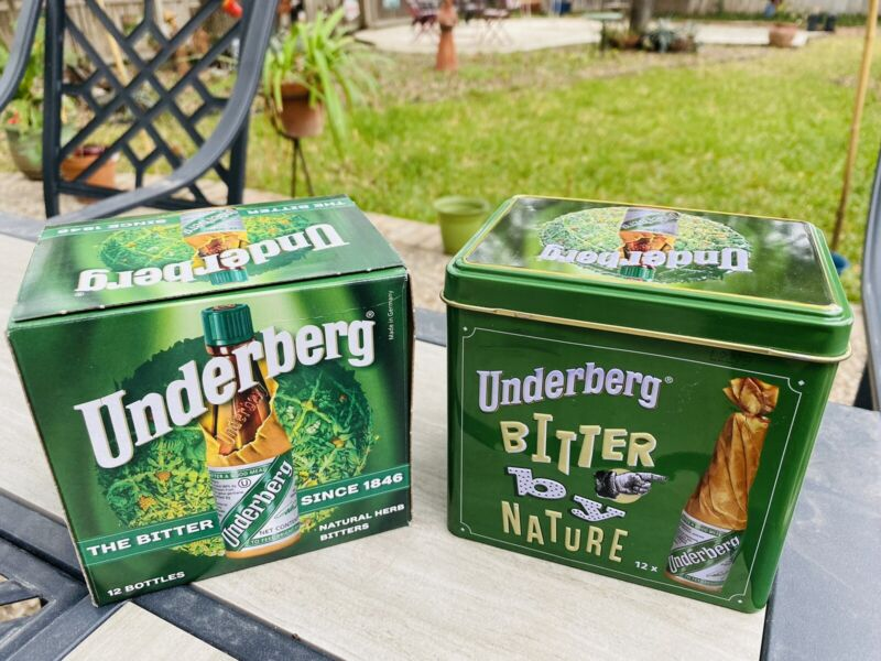 24 Underberg Natural Herb Bitters With a 12 Btl Gift Tin & Drawstring Backpack