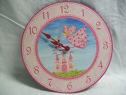 Flying to the Castle Fairy Princess Design Quartz Wall Clock New Monement
