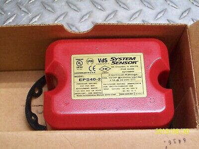 New System Sensor Eps40-2 Eps Pressure Switch Fire Alarm Equipment