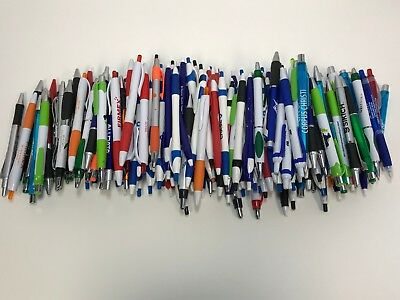 175 Wholesale Lot Misprint Ink Pens Ball Point Plastic Retractable