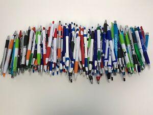 175 Wholesale Lot Misprint Ink Pens, Ball Point, Plastic, Retractable