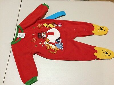 NWT Disney Store Winnie the Pooh Bear Tiger Fleece Sleeper Baby Holiday