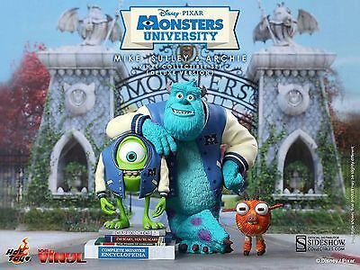 SIDESHOW HOT TOYS MONSTERS UNIVERSITY COLLECTIBLE SET MIKE, SULLEY UND ARCHIE.
