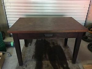 Solid wooden desk / table