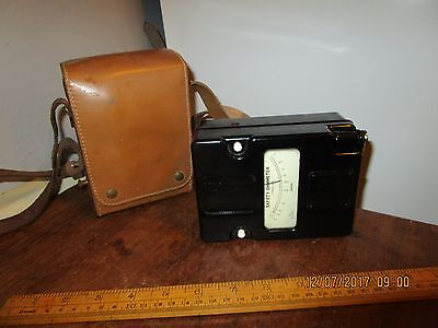 Vintage Evershed Safety Ohmmeter/Evershed Megger Tester in VGC with Leather case