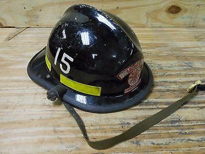 Cairns N660c Military 182d Firefighter Fire Rescue Helmet Fireman Black 15