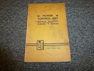 Letourneau Model T Power Control Unit Shop Service Repair Maintenance Manual