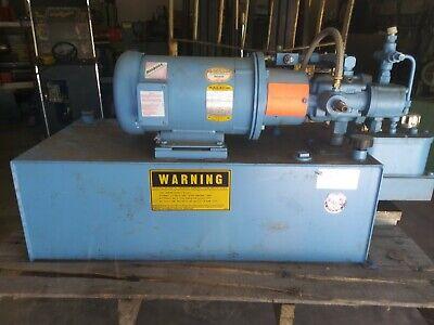 Continental Hydraulics Polypac Hydraulic Power Unit 5hp 30 Gal. New