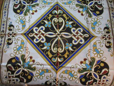 METROPOLITAN MUSEUM OF ART SCARF 100% Silk Celtic Style Design 28