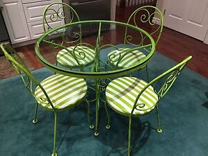 Hauser 5 Piece Wrought Iron Table And Chairs
