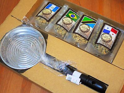 Home Coffee Roast Kit DIY Hand Roaster, 4 bags Green Beans Japan Roasting Coffee