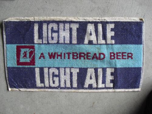 Vintage 1960s Whitbread Beer Light Ale Bar Used Towel