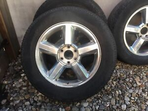 """20"""" rims and two winter tires"""
