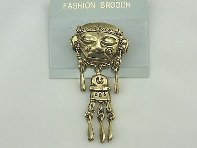 Ethno Brosche Inka Anstecker Modeschmuck
