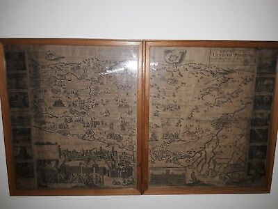 map in 2 parts printed 1753 Robert Sayer Land of promise 62cm x 53cm each