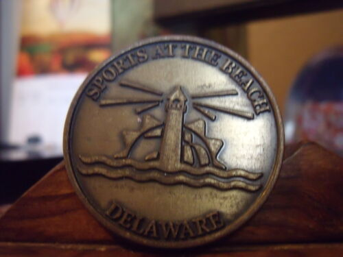 SPORTS AT THE BEACH  LIGHT HOUSE DELAWARE Medal