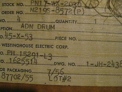 Ge Westinghouse Terminal Board Accelerating Drum Pn 1625514 Master Switch 1956