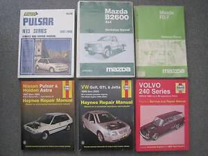 Workshop Manuals - Nissan, Holden, Volvo, VW, Mazda Newcastle Newcastle Area Preview