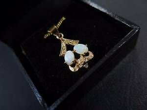 Natural White Opal Sterling Silver Pendant Runcorn Brisbane South West Preview