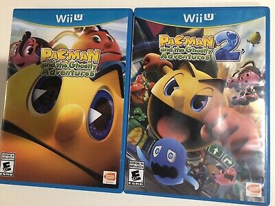 Pac-Man And The Ghostly Adventures 1 + 2 Nintendo Wii U CIB