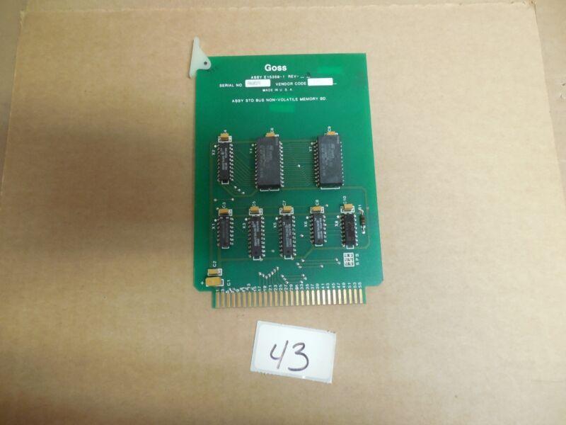 ROCKWELL GOSS STD BUS NON-VOLATILE MEMORY CIRCUIT BOARD E15359-1 E15358-1 REV 3
