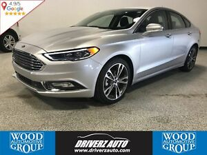 2017 Ford Fusion Titanium CLEAN CARPROOF, ALL WHEEL DRIVE, NA...