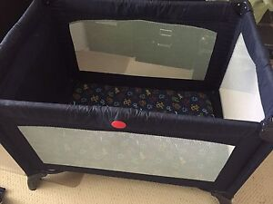 Playpen with bassinet