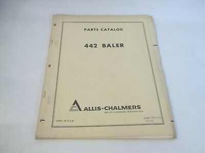 Allis-chalmers Model 442 Baler Parts Catalog