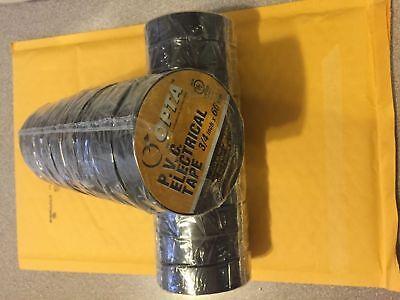 Black Electrical Tape Temflex 1700 34 X 60 Ft 20 Rolls Fast Free Shipping Usa