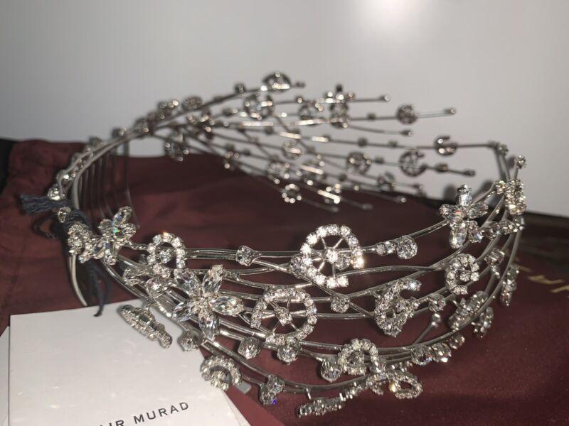 $2,300.00 New Auth  ZUHAIR Murad Head Piece Crown Tiara