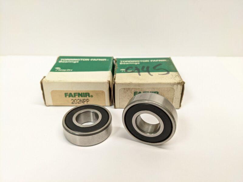 TIMKEN/FAFNIR 202NPP Lot of 2 Roller Bearing Double Rubber Seal 15x35x11mm-NOS