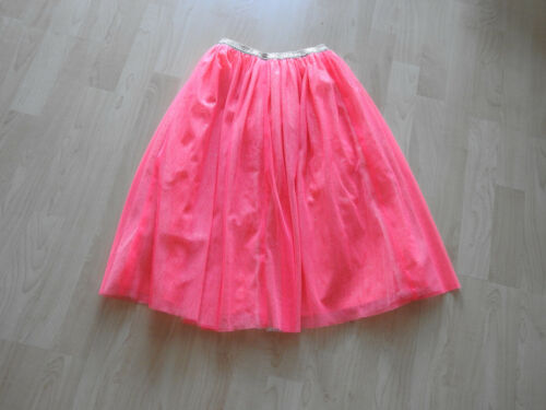 Cat & Jack girls coral orange lined sparkly tulle long skirt size XS 4/5 NWOT